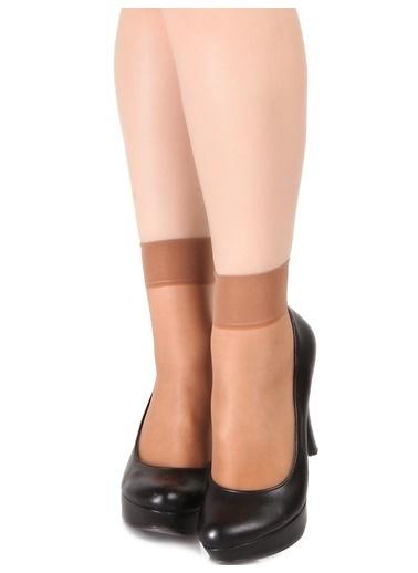 Pierre Cardin 9 Çift Paket Süper İnce Dizaltı Çorap Bronz